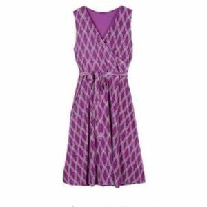 41 Hawthorn Stitch Fix Dress Purple Faux Wrap